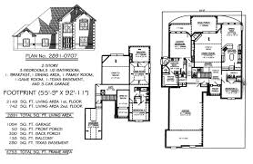 nice 2 story house floor plans with basement plans three