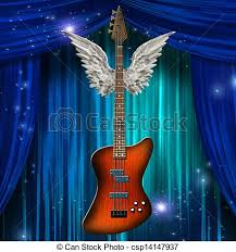 base guitar with wings drawings search clipart illustration and
