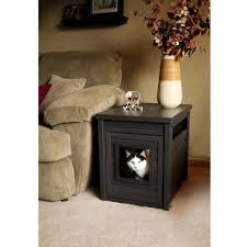 litter box end table new age pet cat litter box cover and end table espresso walmart com