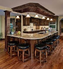 chic traditional kitchen ideas with textured wood floor and l