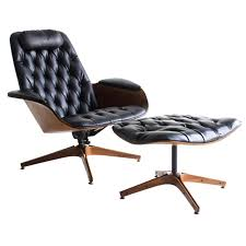 george mulhauser lounge chair and ottoman for plycraft lounge