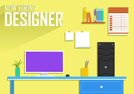 now hiring designer poster template free vector download free