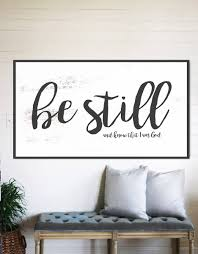 be still and know fixer upper home decor gift for her