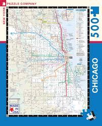 Chicago Transit Maps by Cta Transit Puzzle U2013 New York Puzzle Company