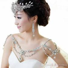 wedding dress accessories 2016 cheap bridal shoulder necklace cheap wedding bridal