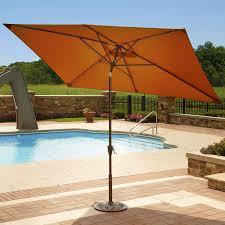Orange Patio Umbrella by Island Umbrella Adriatic 6 5 Ft X 10 Ft Rectangular Terra Cotta