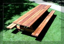 Folding Bench Picnic Table Bench Picnic Table Plans Plywood Redwood Picnic Table Bench