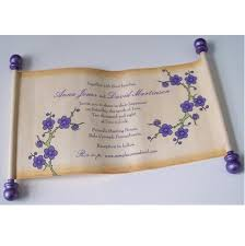 Scroll Invitations Paper Scroll Invitations U2013 Artful Beginnings