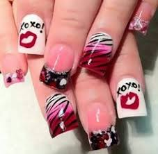 nail designs for valentines day 2015