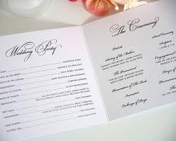 trifold wedding program paper 14 best wedding programs images on wedding programs