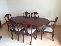 mcdonagh mahogany dining table and 6 chairs in ballymena county