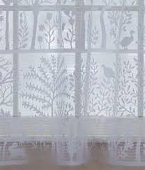 Hanging Lace Curtains Popular Folk Art Themes From Nature With Whimsical Birds Are
