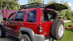 red jeep liberty 2007 jeep liberty uniden 880 cb firestik antenna mk 204r mount youtube