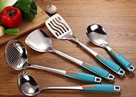 tous les ustensiles de cuisine ajunr cuisine pelles en acier inoxydable cuisine ustensile passoire
