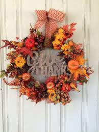 thanksgiving front door decorations whimsical handmade thanksgiving wreath designs for your front door