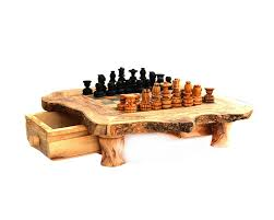 amazon com naturally med olive wood rustic chess set 14 inch