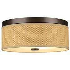 Coastal Ceiling Lights Rattan And Wood Flush Mount Ceiling Light Coastal Inspired Home