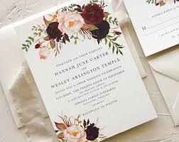 wedding invitations etsy invitations etsy