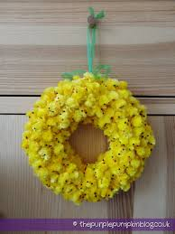 fuzzy easter easter wreath