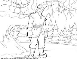 frozen kristoff character walt disney coloring pages cartoon