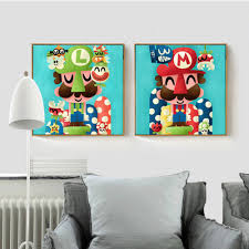 Mario Bros Wall Stickers Online Get Cheap Super Mario Brothers Room Aliexpress Com