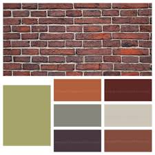 exterior paint colors with orange brick video and photos