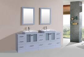 84 inch grey finish integrated sink bathroom vanity