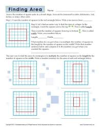 3rd grade finding area worksheets geometry