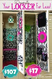 how to decorate a school locker for less school lockers lockers