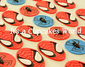 12 the avengers themed inspired fondant cupcake toppers