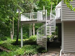 deck spiral staircases outdoor spiral staircases for