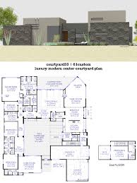 house plans with floor plans luxury modern courtyard house plan 61custom contemporary