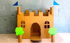 how to make your own cardboard play castle youtube