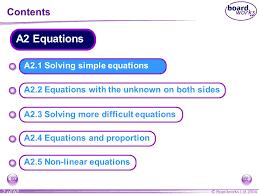 ks3 mathematics a2 equations ppt download