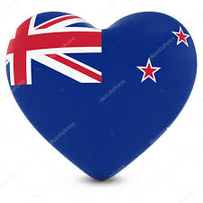 Flag New Zealand Love New Zealand Concept Image Heart Textured With New Zealand