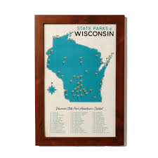 Kohler Wisconsin Map by Wisconsin State Parks Map U0026 Checklist U2014 Gitchi Adventure Goods