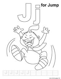 j is for jump alphabet d31b coloring pages printable