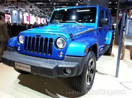 jeep wrangler 4 door blue jeep wrangler polar special edition front left indian autos blog