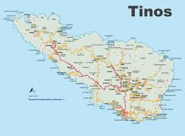 Map Greece by Tinos Maps Greece Maps Of Tinos Island
