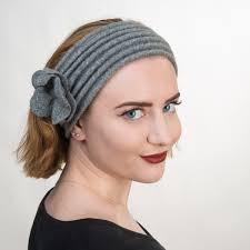 knitted headband grey wool knitted headband 5807 gy sun yorkos kakyco accessories
