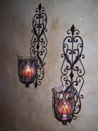 Tuscan Candle Wall Sconces Iron Wall Sconces Wall Sconces Tuscany Wrought Iron Scroll Wall
