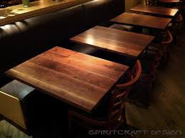 custom solid hardwood table tops live edge slabs custom made solid wood black walnut table tops at chicago restaurant from spiritcraft design furniture in