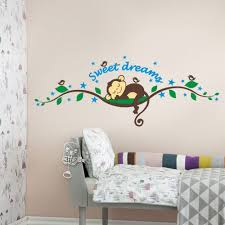 Bedroom Wall Stickers Uk Monkey Wall Stickers For Nursery Uk Color The Walls Of Your House