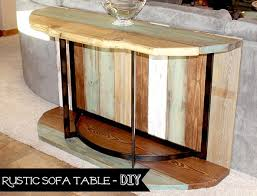 Rustic Sofa Table by Rustic Sofa Table Rebuilding Recycling And Reclaiming Blue