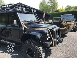 land rover spectre custom build defender 110 crew cab spectre james bond edition