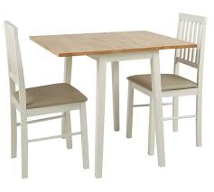 argos small kitchen table and chairs buy home kendall extendable wood table 2 chairs two tone space