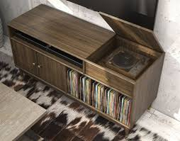 lp record cabinet furniture console table design record player console table tuntables record