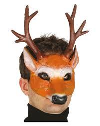 deer half mask halloween costume accessories horror shop com