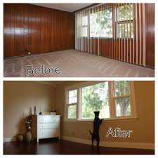 before u0026 after diy home renovation take out those ugly wood