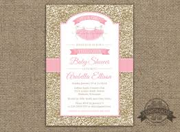 ballerina baby shower invitations tutu baby shower invitation gold pink baby shower